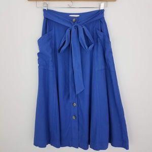 Anthropologie | Maeve Riviera Skirt Button Front